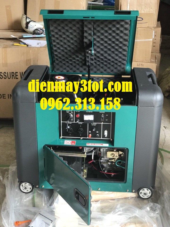 Máy phát điện chạy dầu 5kw Bamboo 7800E cách âm 6