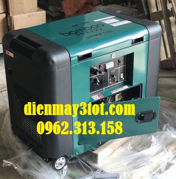 Máy phát điện chạy dầu 5kw Bamboo 7800E cách âm 4