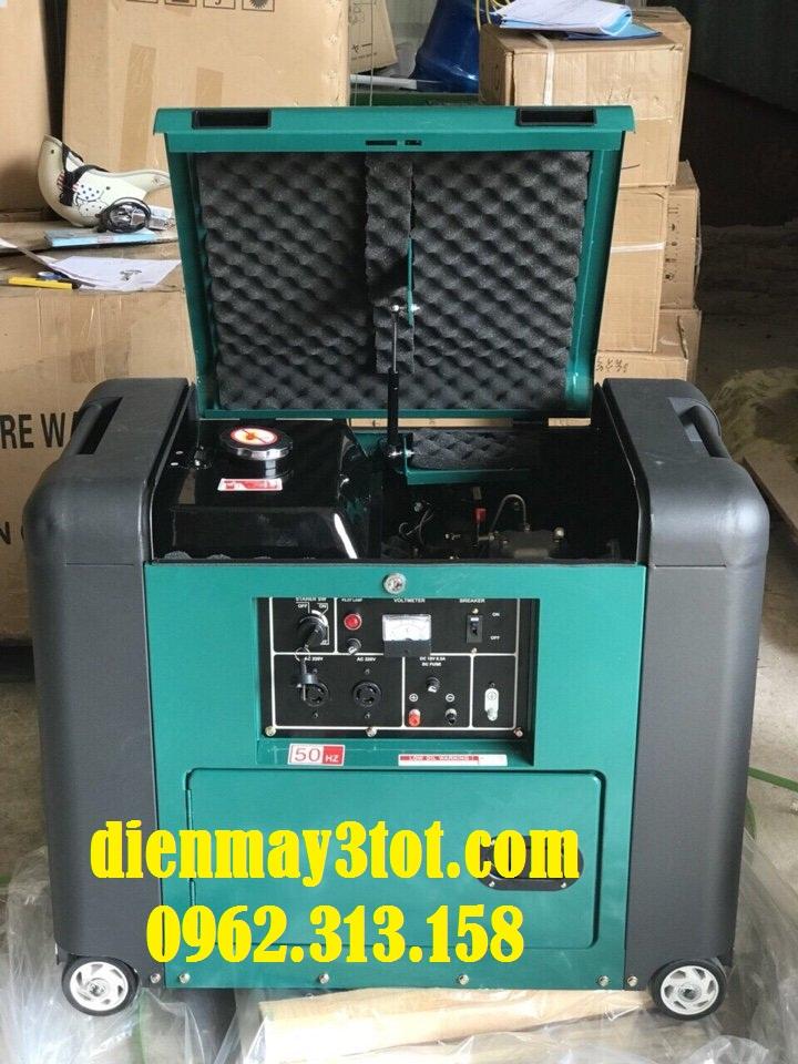 Máy phát điện chạy dầu 5kw Bamboo 7800E cách âm 5