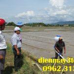 Máy phun lúa giống kết hợp bón phân cho cây lúa hiệu quả từ mô hình mới