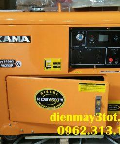 máy phát điện chạy dầu 5kw kama kde6500tn