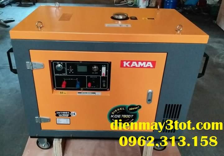 máy phát điện chạy dầu 6kw KAMA chống ồn