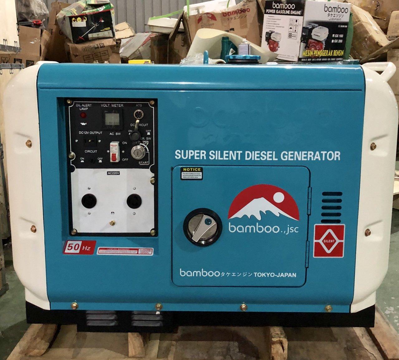 máy phát điện chạy dầu bamboo bmb8500det