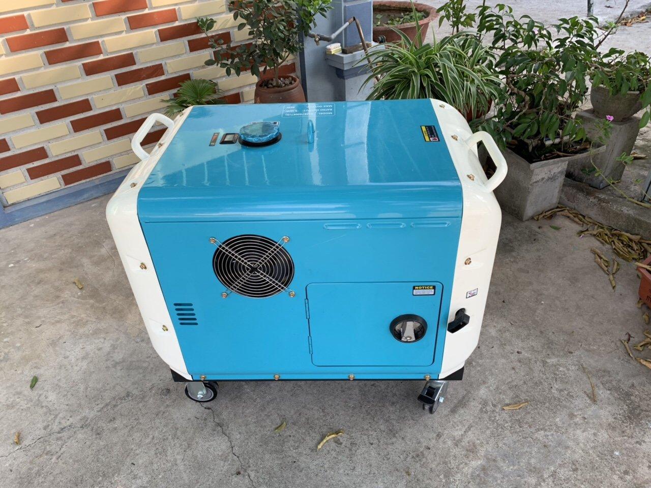 Máy phát điện chạy dầu bamboo bmb7500det siêu chống ồn