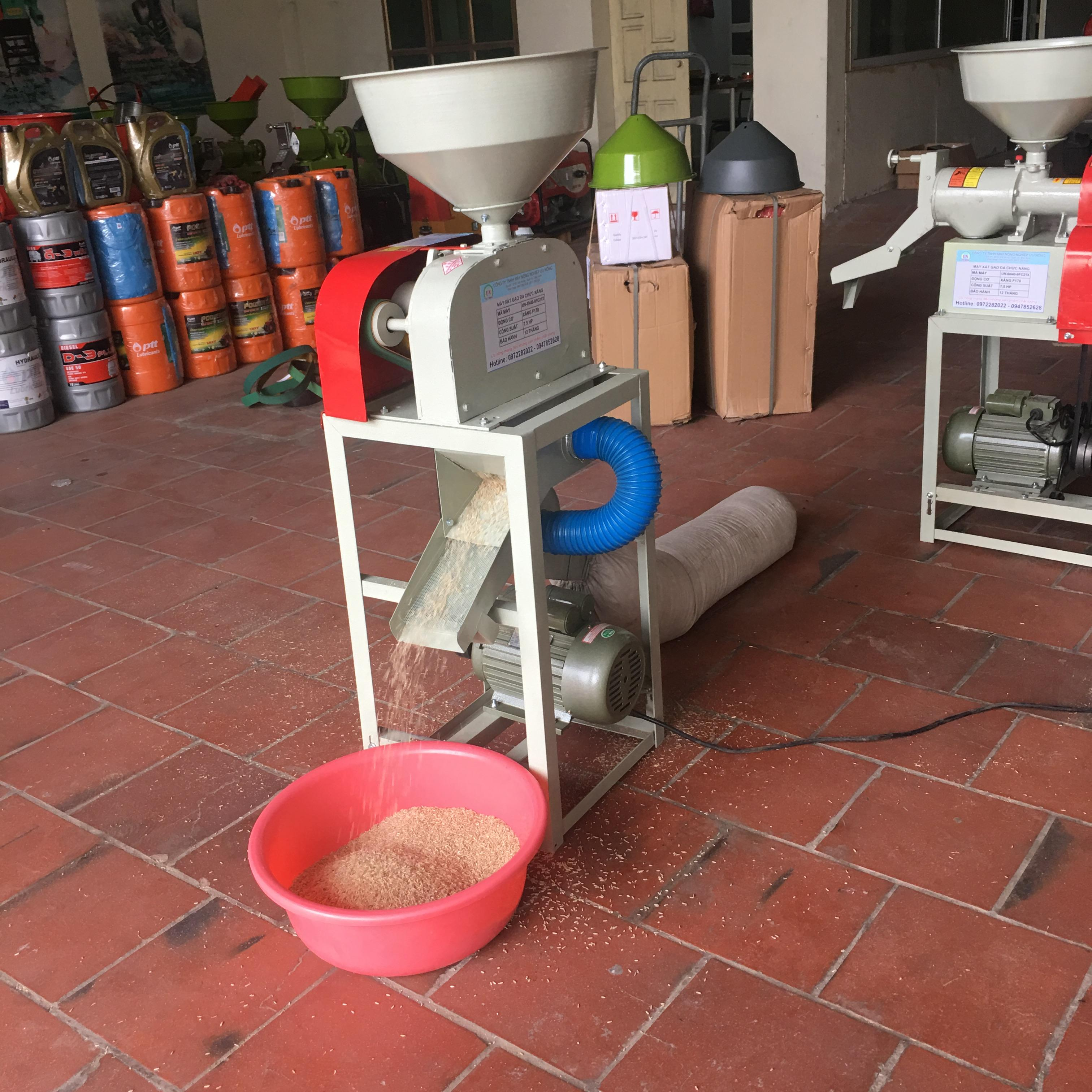 máy xát gạo lứt mini