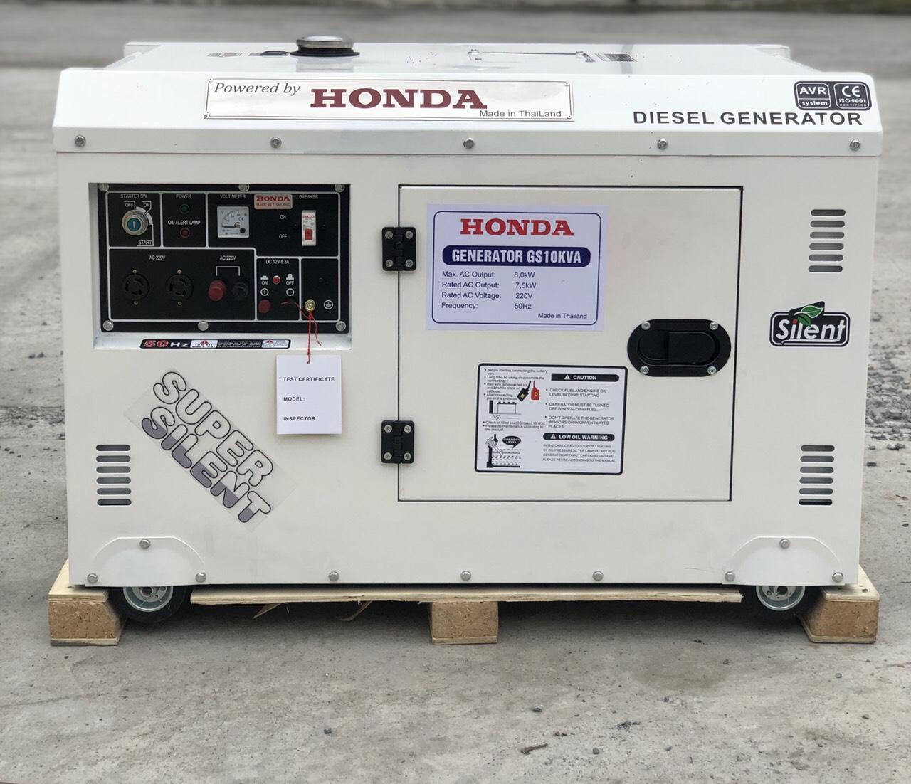 Máy phát điện Honda GS10KVA chạy dầu từ Thái Lan