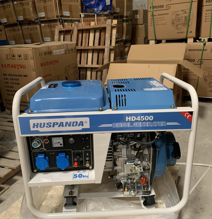 Máy phát điện chạy dầu 3kw Huspanda HD4500